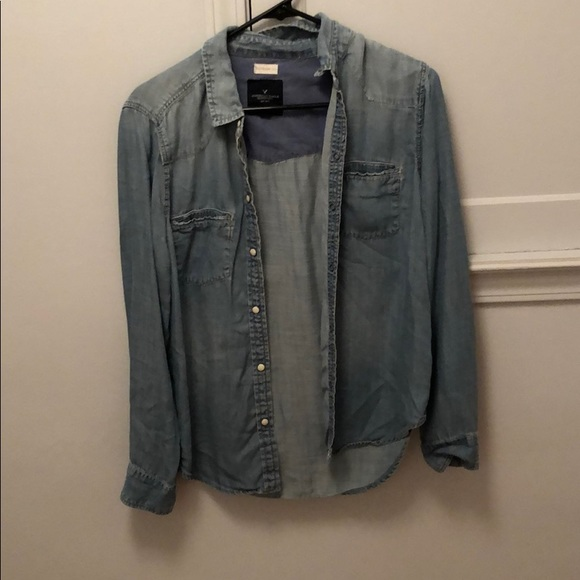 American Eagle Outfitters Tops - Denim Long Sleeve